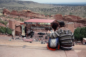 Young love at Red Rocks that I captured at Monolith.